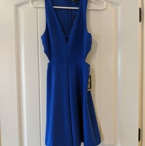 Size 0, blue, Express, cocktail dress